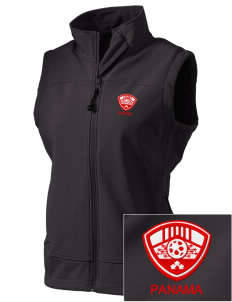 Panama Soccer  Embroidered Women's Glacier Soft Shell Vest