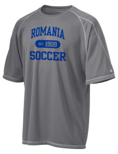 Romania Soccer Champion Men's 4.1 oz Double Dry Odor Resistance T-Shirt