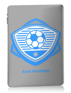 San Marino Soccer Apple iPad Skin