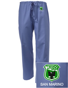 San Marino Soccer Embroidered Scrub Pants