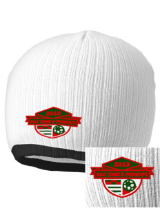 Sao Tome e Principe Soccer Embroidered Champion Striped Knit Beanie