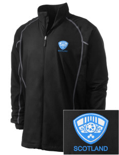 Scotland Soccer Embroidered Men's Nike Golf Full Zip Wind Jacket