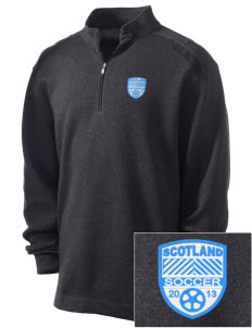 Scotland Soccer Embroidered Nike Men's Golf Heather Cover Up