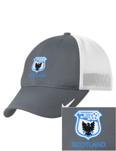 Scotland Soccer Embroidered Nike Golf Mesh Back Cap