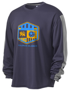 Solomon Islands Soccer  Russell Men's Long Sleeve Everyday Performance T-Shirt