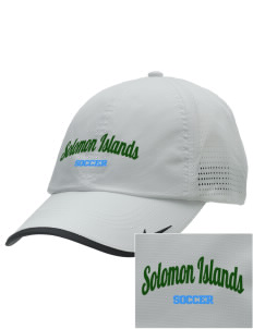 Solomon Islands Soccer Embroidered Nike Dri-FIT Swoosh Perforated Cap