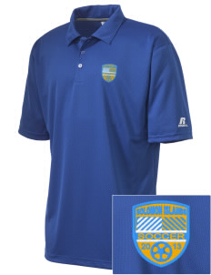 Solomon Islands Soccer Embroidered Russell Coaches Core Polo Shirt