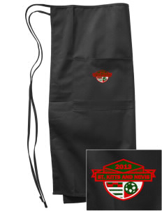 St. Kitts and Nevis Soccer Embroidered Full Bistro Bib Apron