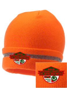 St. Kitts and Nevis Soccer  Embroidered Safety Beanie with Reflective Stripe