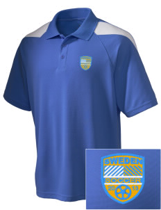 Sweden Soccer Embroidered Holloway Men's Frequency Performance Pique Polo