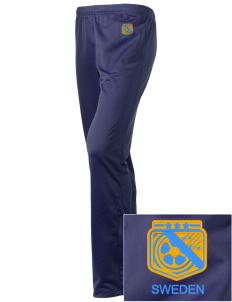 Sweden Soccer Embroidered Holloway Women's Contact Warmup Pants