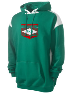 Turkmenistan Soccer Men's Pullover Hooded Sweatshirt with Contrast Color