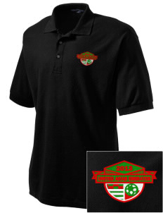 United Arab Emirates Soccer Embroidered Tall Men's Silk Touch Polo