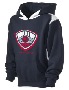 United States Soccer Kid's Pullover Hooded Sweatshirt with Contrast Color