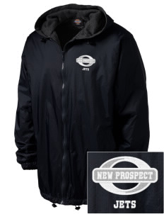 New Prospect Elementary School Jets Embroidered Dickies Men's Fleece-Lined Hooded Jacket