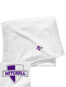 Mitchell Elementary School Sharks Embroidered Beach Towel