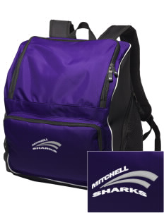 Mitchell Elementary School Sharks Embroidered Holloway Backpack