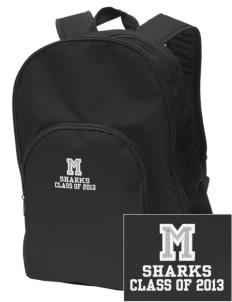 Mitchell Elementary School Sharks Embroidered Value Backpack