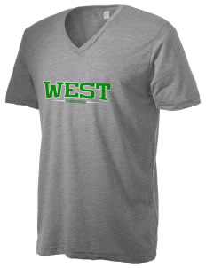 West Elementary School tornadoes Alternative Men's 3.7 oz Basic V-Neck T-Shirt