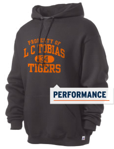 L C Tobias Elementary School Tigers Russell Men's Dri-Power Hooded Sweatshirt