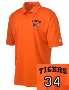 L C Tobias Elementary School Tigers Embroidered Russell Coaches Core Polo Shirt
