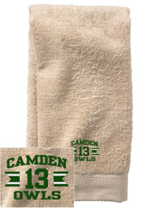 Camden Primary School Owls  Embroidered Zero Twist Resort Hand Towel