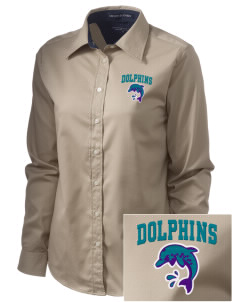 Marvin A Dutcher Elementary School Dolphins  Embroidered Women's Pima Advantage Twill