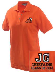 Justus Gage Elementary School Chiefains Embroidered Women's Pique Polo