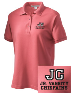 Justus Gage Elementary School Chiefains Women's Embroidered Silk Touch Polo