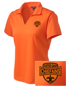 Justus Gage Elementary School Chiefains Embroidered Women's Dri Mesh Polo
