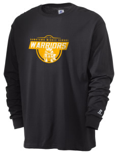 Downtown Middle School Warriors  Russell Men's Long Sleeve T-Shirt