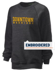 Downtown Middle School Warriors Embroidered Unisex Alternative Eco-Fleece Raglan Sweatshirt