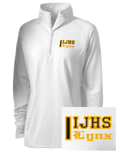 Indianola Junior High School Lynx Embroidered Ladies Stretched Half-Zip Pullover