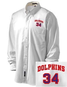 Graham Elementary School Dolphins Embroidered Men's Easy-Care Shirt