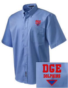 Graham Elementary School Dolphins Embroidered Men's Easy Care Shirt