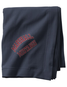 Marshall Middle School Mustangs  Sweatshirt Blanket
