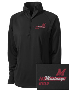 Marshall Middle School Mustangs Embroidered Ladies Stretched Half-Zip Pullover