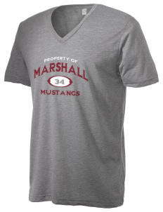 Marshall Middle School Mustangs Alternative Men's 3.7 oz Basic V-Neck T-Shirt