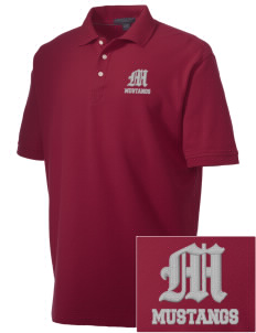 Marshall Middle School Mustangs Embroidered Men's Performance Plus Pique Polo
