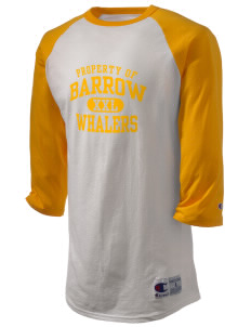 Barrow High School Whalers Champion Men's Tagless Baseball T-Shirt