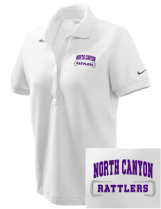 North Canyon High School Rattlers Embroidered Nike Women's Pique Golf Polo