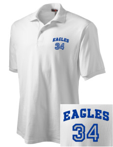 Foothill Middle School Eagles Embroidered Men's Jersey Polo