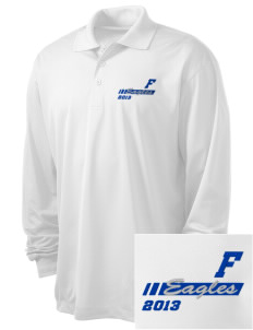 Foothill Middle School Eagles Embroidered Men's Long Sleeve Micropique Sport-Wick Sport Shirt