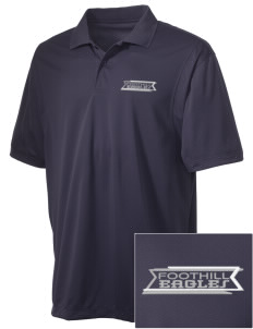 Foothill Middle School Eagles Embroidered Men's Micro Pique Polo