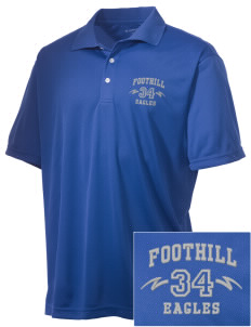 Foothill Middle School Eagles Embroidered Men's Double Mesh Polo