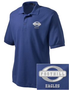 Foothill Middle School Eagles Embroidered Tall Men's Silk Touch Polo