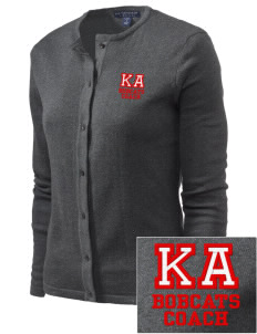 Kern Avenue Elementary School Bobcats Embroidered Women's Cardigan Sweater