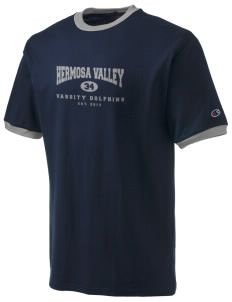 Hermosa Valley School Dolphins Champion Men's Ringer T-Shirt