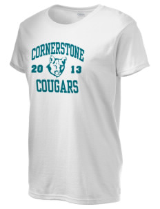 Cornerstone School Cougars Women's 6.1 oz Ultra Cotton T-Shirt