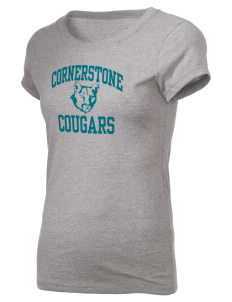 Cornerstone School Cougars Holloway Women's Groove T-Shirt